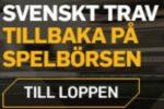 Svenskt trav tillbaka på Betfair spelbörs 2020