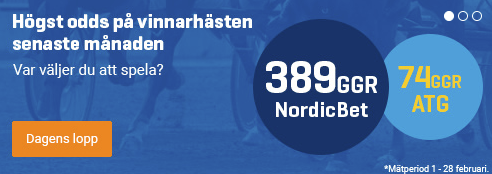 De bästa oddsen på svenskt trav